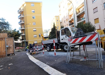 Genova - Via Napoli - fuga di gas da tubo interrato