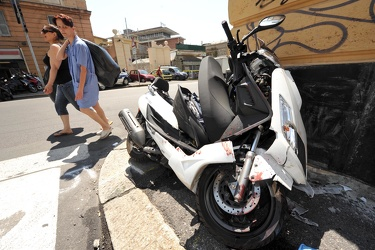 Ge - incidente scooter via archimede