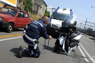 incidente via Prà