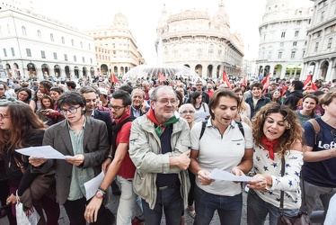flash mob antifascista Ge 25092015